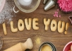 write your name or message with cookies