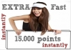 provid you a new account addmefast with 15,000 points