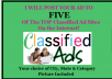 post your ad to 5 TOP Ranking Classifieds
