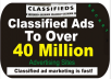 submit Your CLASSIFIED Ads To 40 Million Advertising Sites