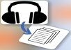 Transcribe up to 10 min of audio or video in Spanish
