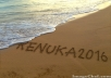 write your message or any name on the beach