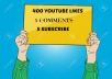 give you 400 real YouTube Likes