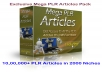 give you 1,000,000+ PLR Articles in 2000 Niches