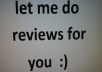 write reviews for you