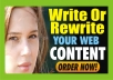 Write or Rewrite Your Website CONTENT In 24hrs