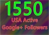 add 1550 real active google plus followers