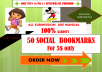 Do 50 top social Bookmarking   PR 4+ Manually for