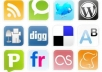 do Manual Social Bookmark Submission on 50 Dofollow Social Bookmarking websites with PR 3 to 9 + Ping + 10 Rss submit