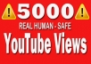 add 5000 Real Youtube views