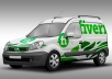 put your logo on a 3D Realistic  Van