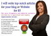 write top notch articles for your website and blogs, up to 500