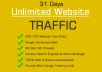 drive Unique Unlimited Traffic to any websites for 31 days
