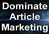send you the biggest and best Article Marketing Robot list of more then 150k Article Directorys Fast Delivery