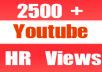 Give You 2599+ NON Drop + Splitable Youtube Views