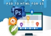 convert PSD to Html or wordpress