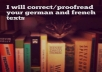 correct/proofread your french or german texts