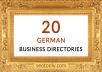 do manually 20 German business directory submissions