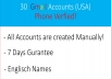provide you fresh 30 USA Gmail Accounts verfied