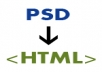 make PSD to HTML