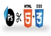 convert your PSD to HTML5/CSS3