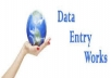 do data entry form filling add posting work