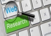 do web research work