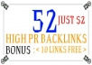 do manually 52 High Pr7 to 2 Dofollow Blog Backlinks