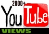 add 2000 YouTube Views with Natural Audience