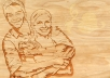 Carve your Logo, Image and Text on Wood
