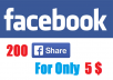 give you 200 facebook shares for photo, video