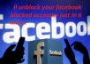 recover your blocked Facebook account