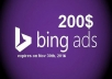 give $200 Bing Ads Coupon / Voucher in only