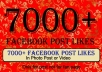 give 7000 Italian facebook post likes in photo post or video