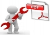 decrypt and edit any online PDF document like Result, C.V etc.