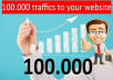 targeted 100.000 traffics to your website