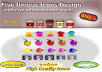 give unique Icons with 5 different option of color each!