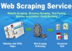 do web scraping,data entry,data mining,emails extraction for you