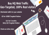 deliver 100+/ day targeted web traffic for 6 months