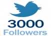 Need A Reliable Social Media Provider That Is FAST, SAFE and EFFECTIVE?  What I Offer ?   1 - Permanent Twitter Followers  2 - Super fast & Professional Service  3 - 100% Safe To Your TWITTER Account  4 - No password require  5 - Split Available 6 - 100% customer satisfaction   If you have any questions – fell free to ask me! Followers are real.  What Are You Waiting For??