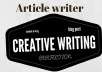 write an article,blog post,content