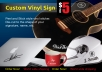 design and cut your vinyl signs
