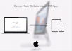convert your website into an IOS App and Publish it on the Apple App Store