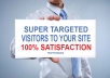 Blaster high Quality Targeted  Real Visitors to your webste Product