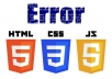 fix your HTML, CSS,JavaScript bugs