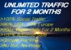 drive UNLIMITED genuine traffic to your website for 2 months