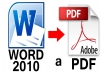 convert your word to PDF and vice versa