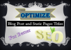 MANUALLY Write 6 SEO-ready Static Pages (e.g. About page etc.) with Search-engine friendly Keywords.