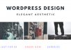 edit and Creatively Design your Wordpress Website