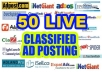 post your Business,Service,Jobs,buy and sale, or Website Ad on 50 Top rated